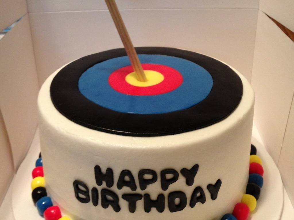 Archery Target Birthday Cake Cakecentral