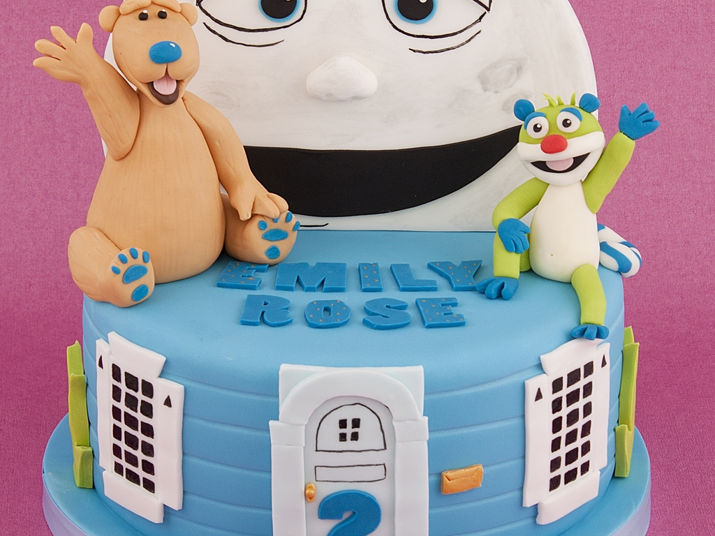 bear in the big blue house cake cakecentral com