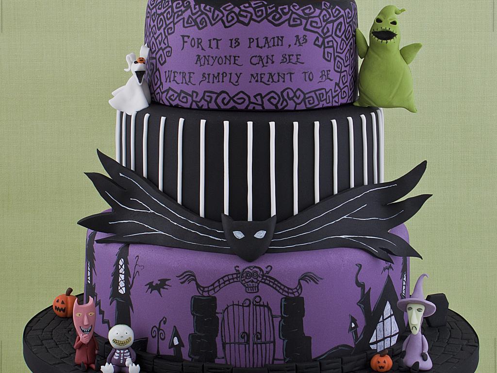 Nightmare before christmas wedding cake cakecentral junglespirit Choice Image