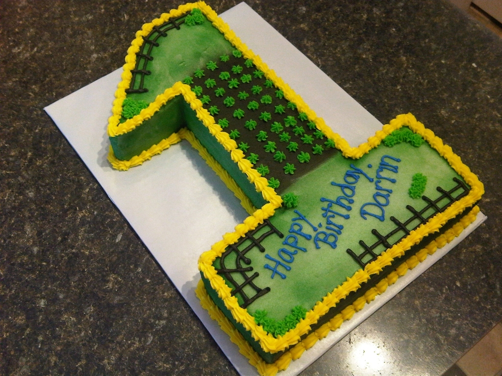 Amazing John Deere 1St Birthday Cakecentral Com Funny Birthday Cards Online Overcheapnameinfo
