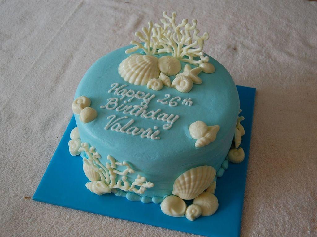 Marvelous Ocean Theme Birthday Cake Cakecentral Com Personalised Birthday Cards Sponlily Jamesorg