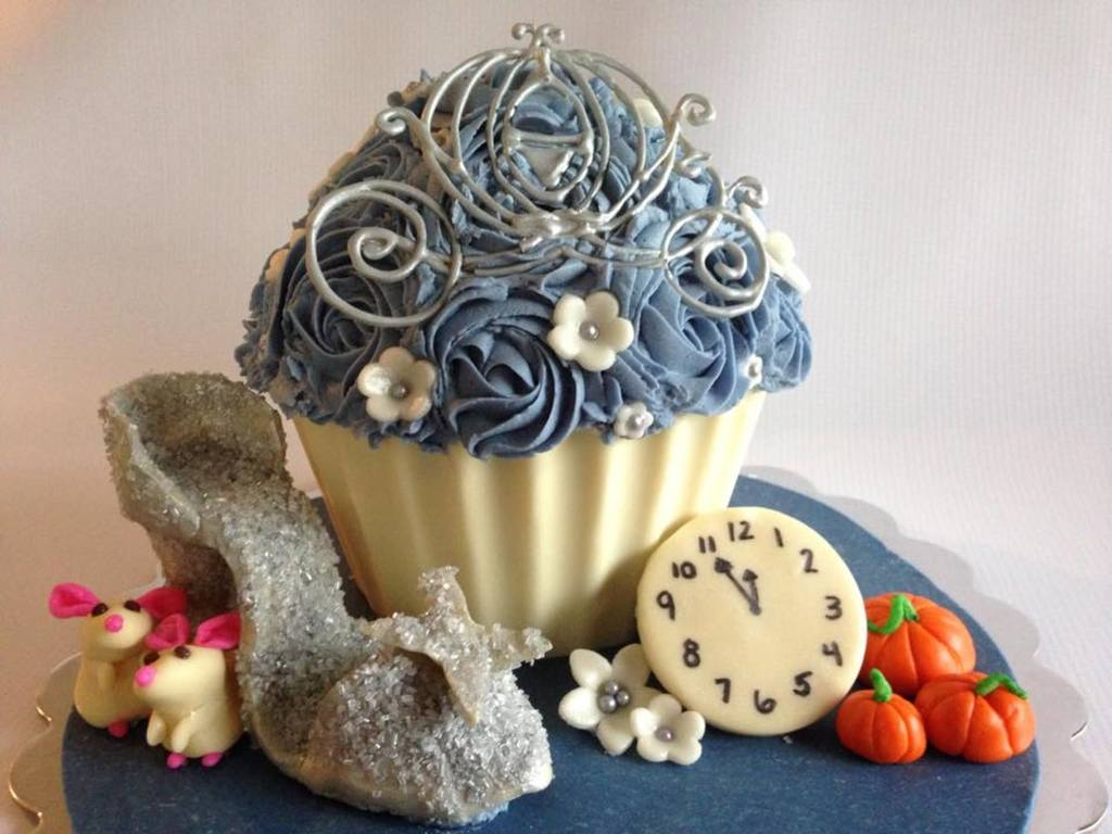 Cinderella Cake With Modeling Chocolate Glass Slipper, Carriage ...