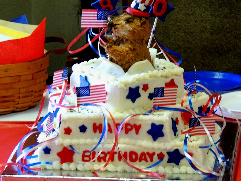 Miraculous Patriotic Birthday Cake Cakecentral Com Funny Birthday Cards Online Fluifree Goldxyz