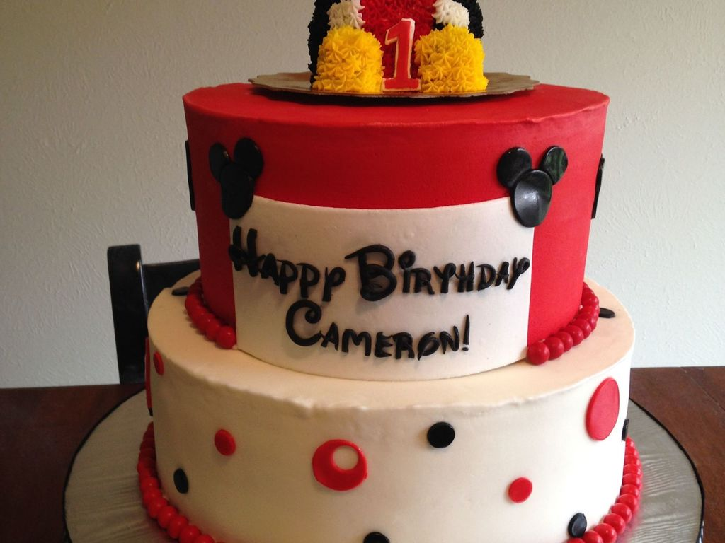 Birthday Cake For A 1 Year Old Little Boy Top Is Smash Made With The Mini Bear Pan Unfortunately I Dont Think It Looked At Much L