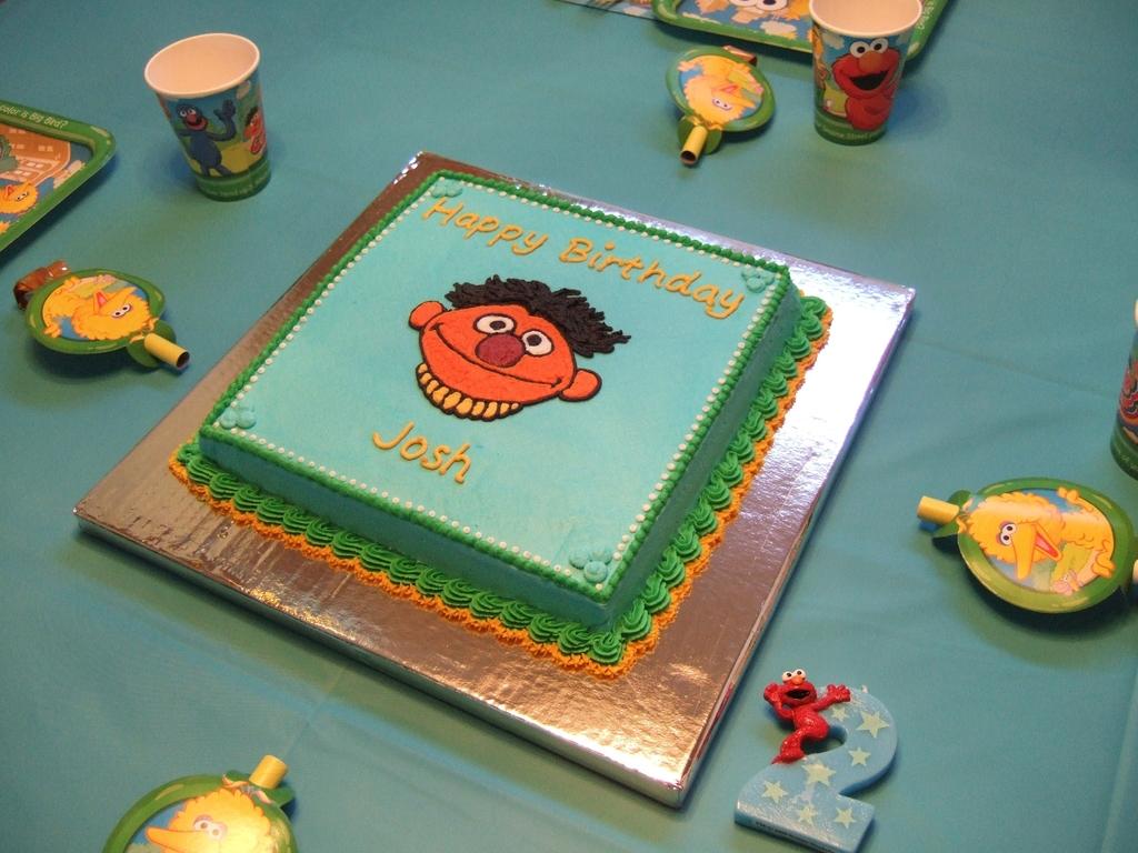 Miraculous Sesame Street Ernie Birthday Cake Cakecentral Com Funny Birthday Cards Online Hetedamsfinfo