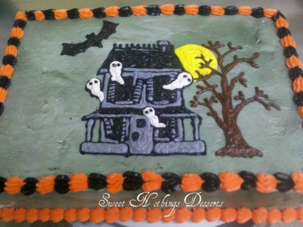Miraculous Haunted House Birthday Cake Cakecentral Com Personalised Birthday Cards Epsylily Jamesorg