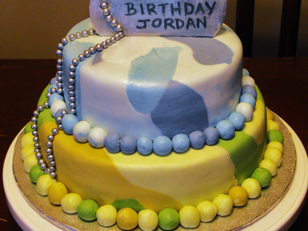 Birthday Cakes For Dogs In Massachusetts ~ Camo and dog tag cakecentral.com