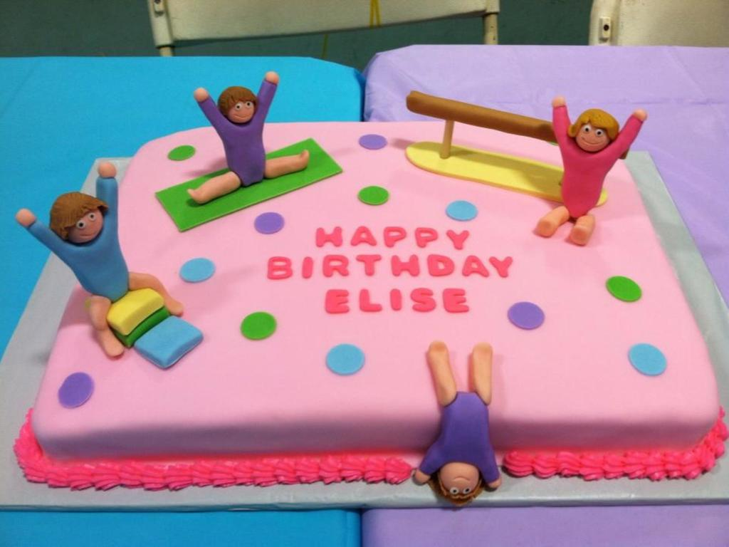 Gymnastics Birthday Party Decorations Gymnastics Birthday Cake Cakecentralcom