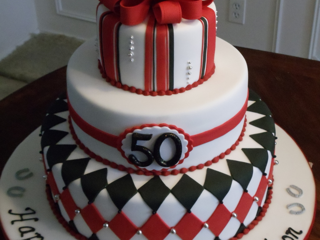 Horse Racing Silks Inspired 50th Birthday Cake Cakecentral