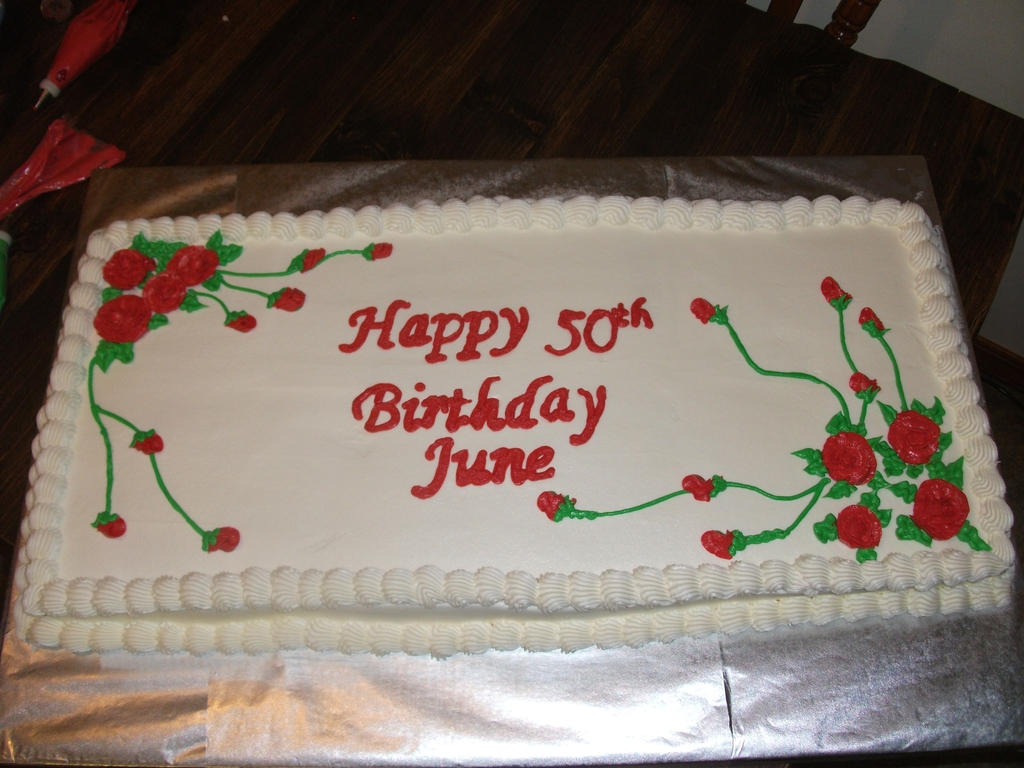 Sensational Red Rose Birthday Sheet Cake Cakecentral Com Funny Birthday Cards Online Bapapcheapnameinfo