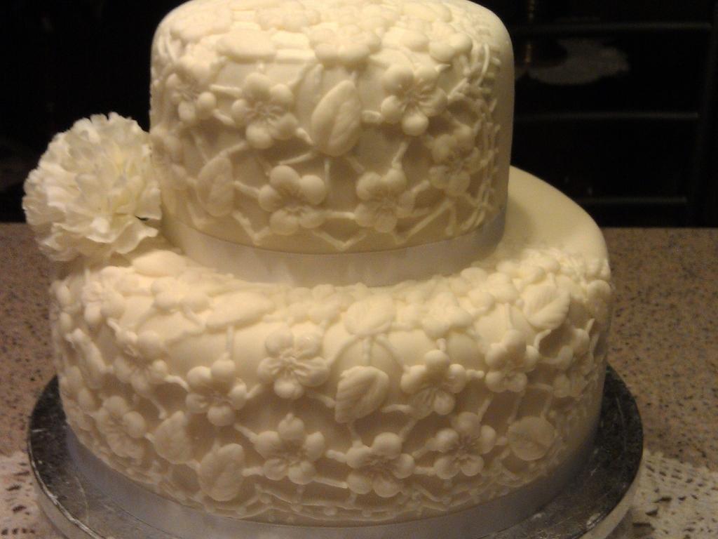 Lace Wedding Cake - CakeCentral.com
