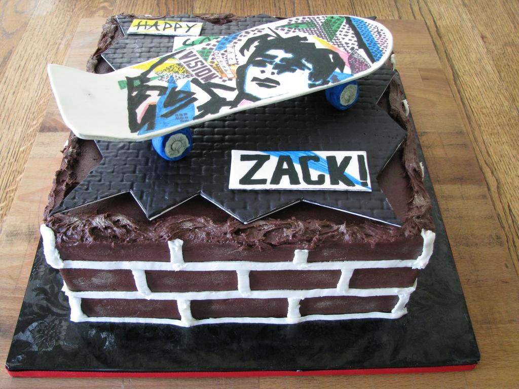 Astounding Skateboard Deck 40Th Birthday Cakecentral Com Funny Birthday Cards Online Bapapcheapnameinfo