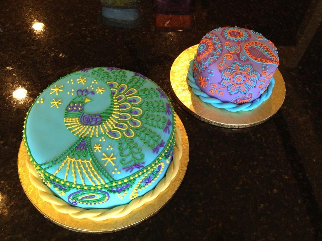Peacock Henna Cake