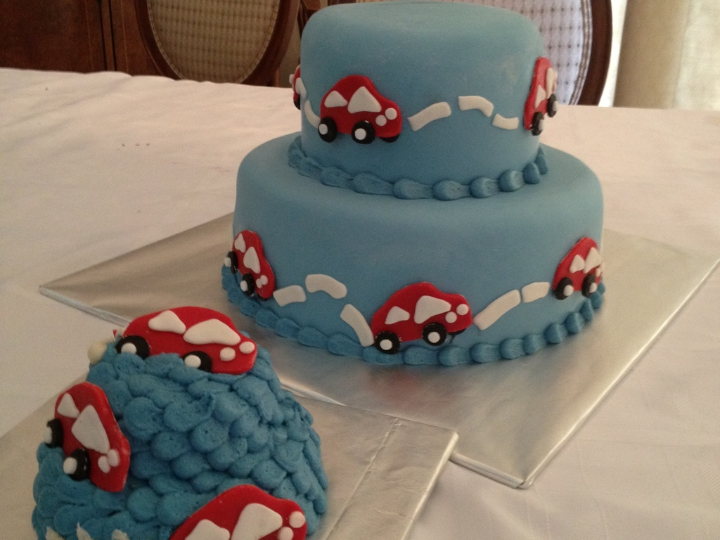 Vroom Vroom Red Car For Baby Boy S First Birthday Cakecentral Com