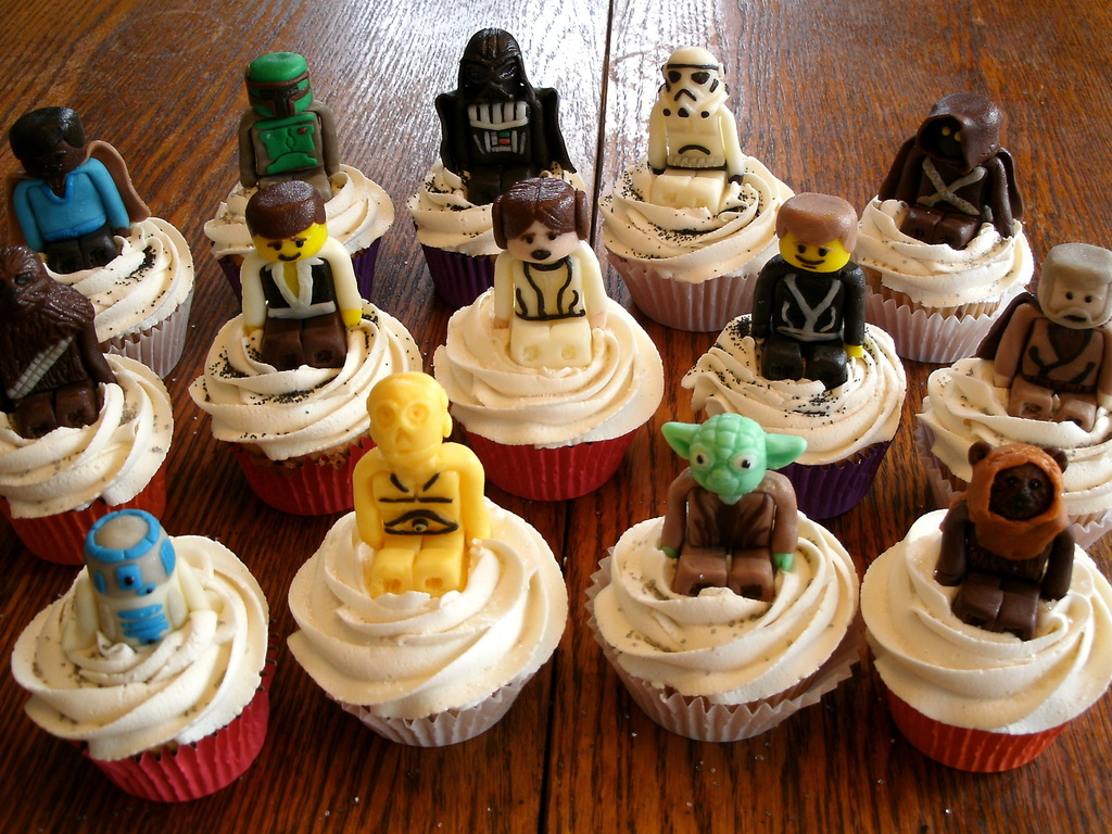 lego star wars candy clay cupcake toppers - cakecentral