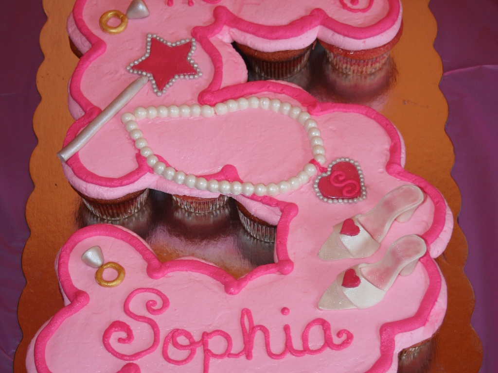 Princess Fifth Birthday Cupcake Cake Cakecentral
