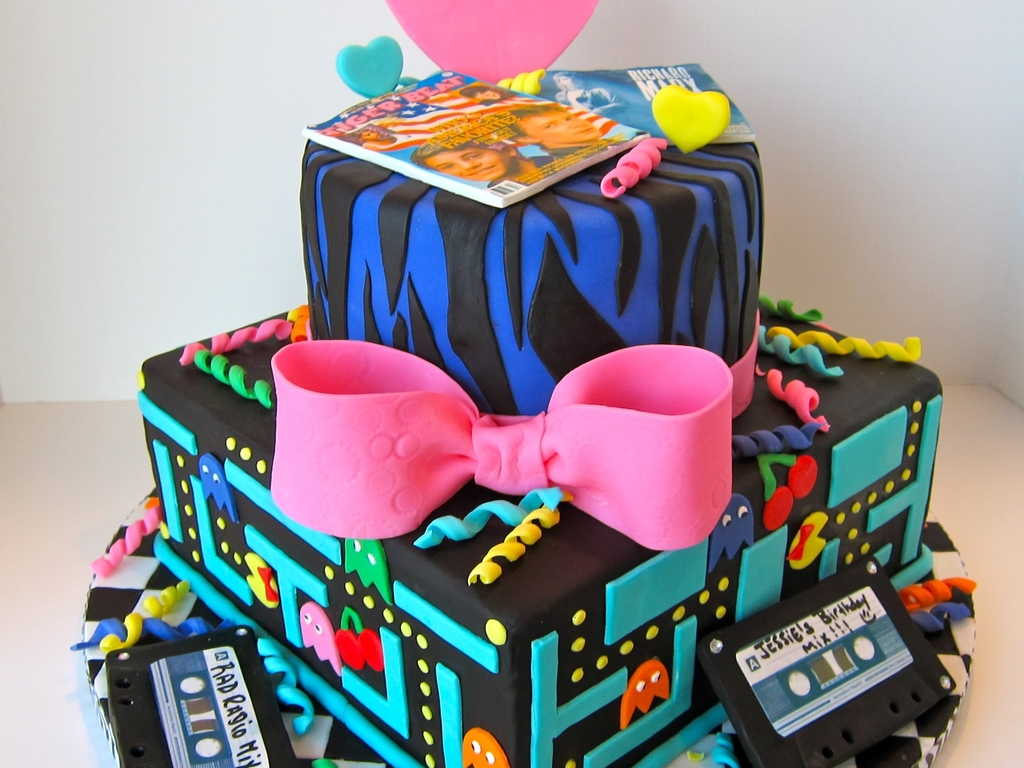 Awesome 80S Birthday Cake