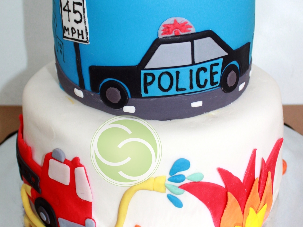 Police Car And Fire Truck Themed 5th Birthday Cakecentral