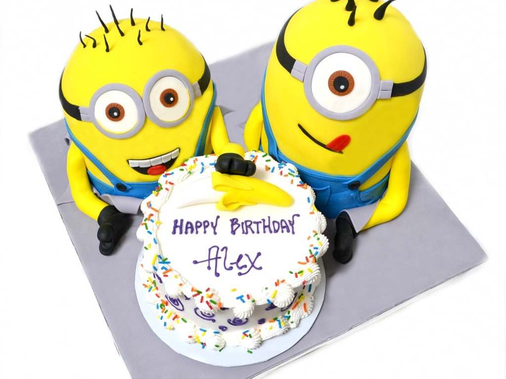 Birthday Cake Images Minions ~ Despicable me minions with banana birthday cake cakecentral
