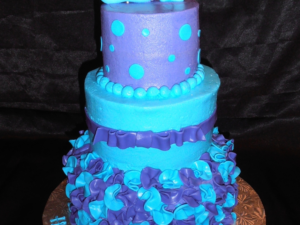 Excellent Blue And Purple 14Th Birthday Cakecentral Com Funny Birthday Cards Online Alyptdamsfinfo