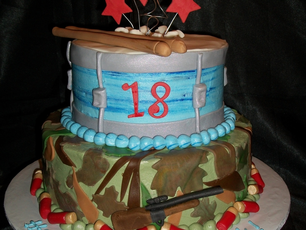 Camo Hunterdrummer Cake Cakecentral