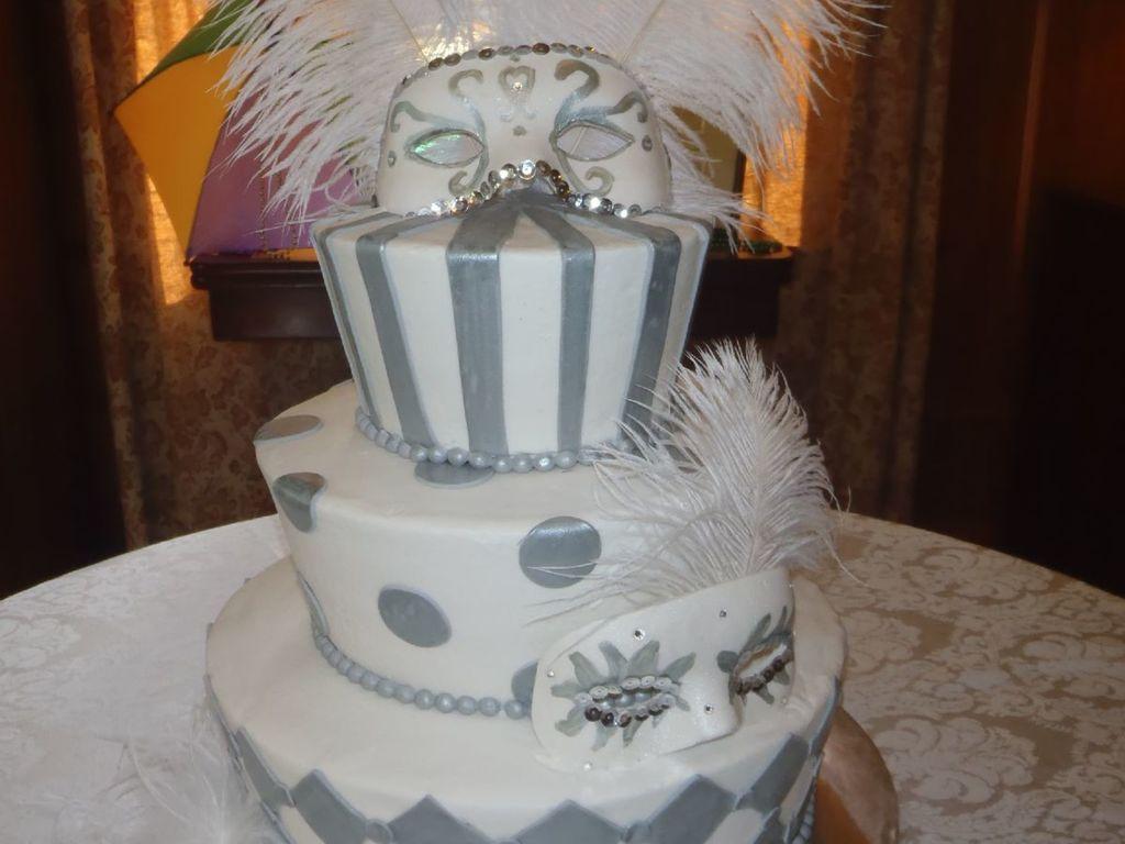 Mardi Gras Wedding Cake - CakeCentral.com