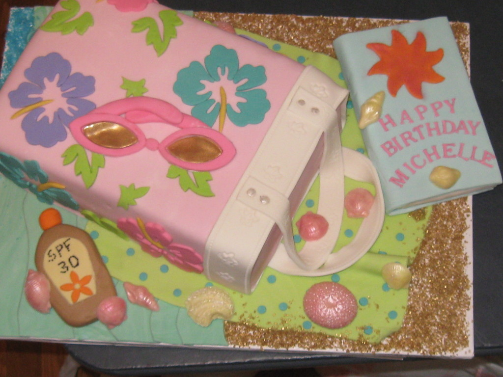 Michelle's Beach Bag Cake - CakeCentral.com