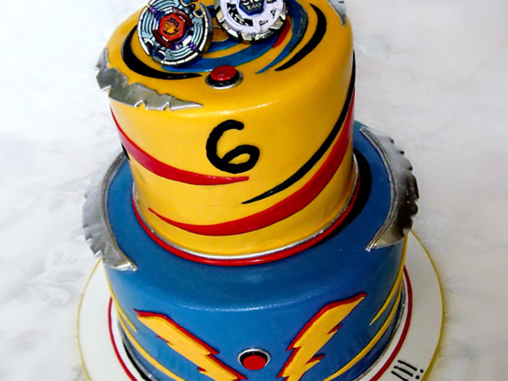 Beyblade Birthday Cake - CakeCentral.com