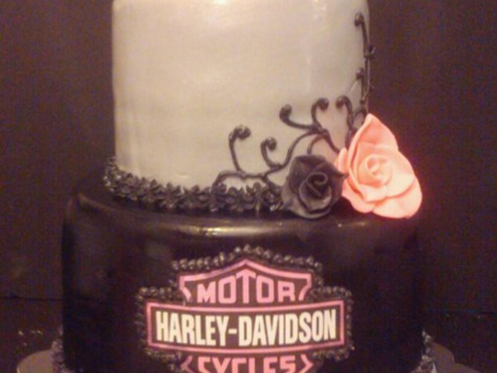 Superb Harley Davidson Womens 50Th Birthday Cake Cakecentral Com Funny Birthday Cards Online Overcheapnameinfo