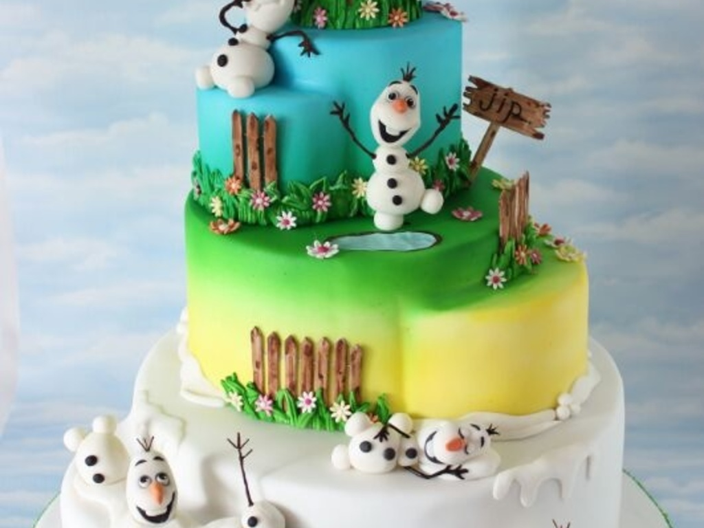 My Olaf In Summer Cake Inspired By The Song In Frozen Cakecentral