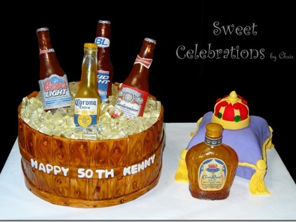Super 50Th Birthday Cake For The Owner Of A Local Liquor Store The Funny Birthday Cards Online Alyptdamsfinfo