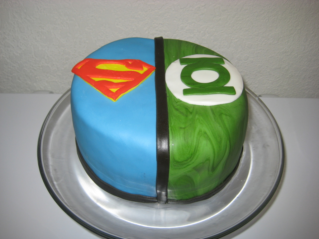 Superman The Green Lantern Cakecentral Com