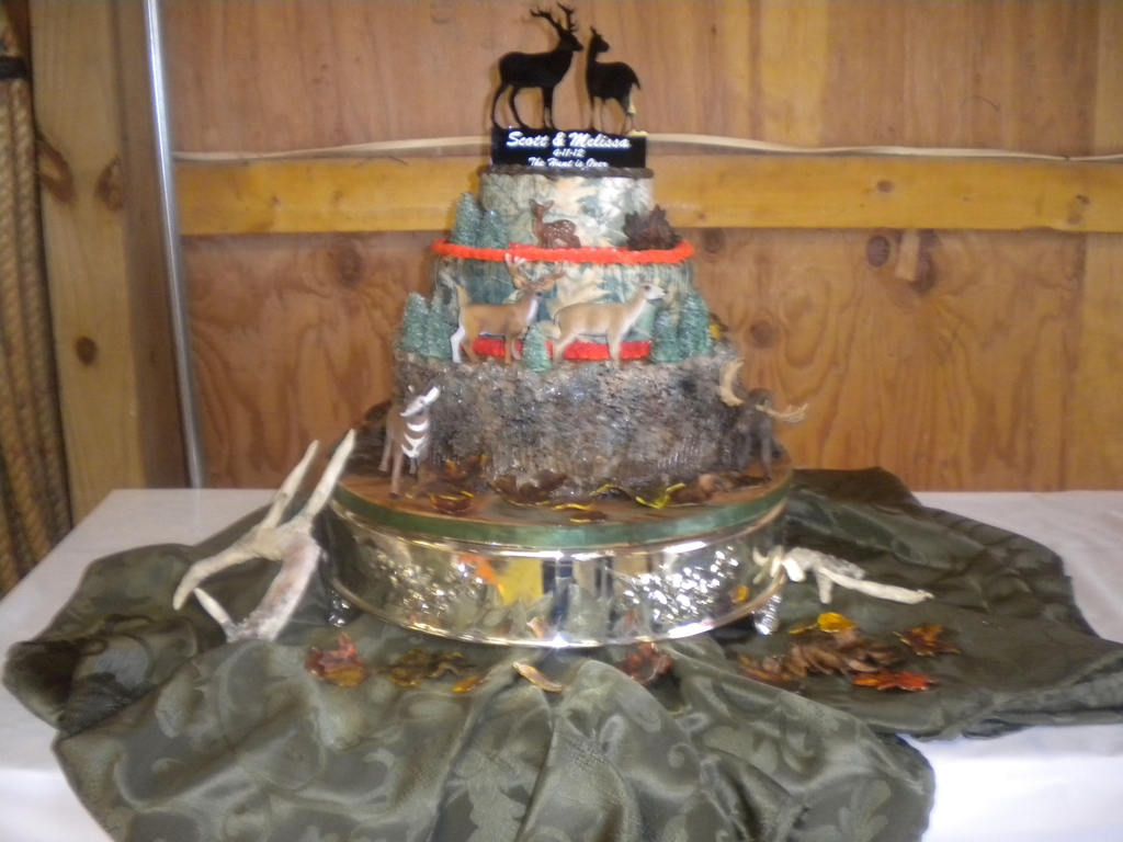 Camo And Orange Wedding Cakes