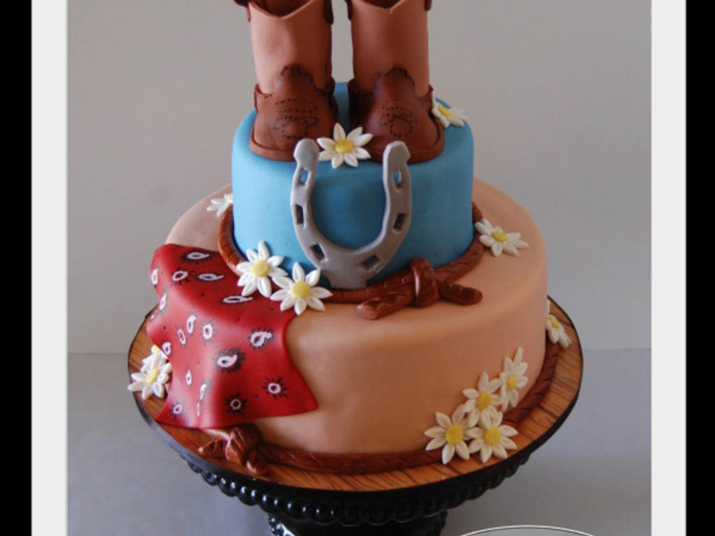 Groovy Western Birthday Cake Cakecentral Com Personalised Birthday Cards Cominlily Jamesorg