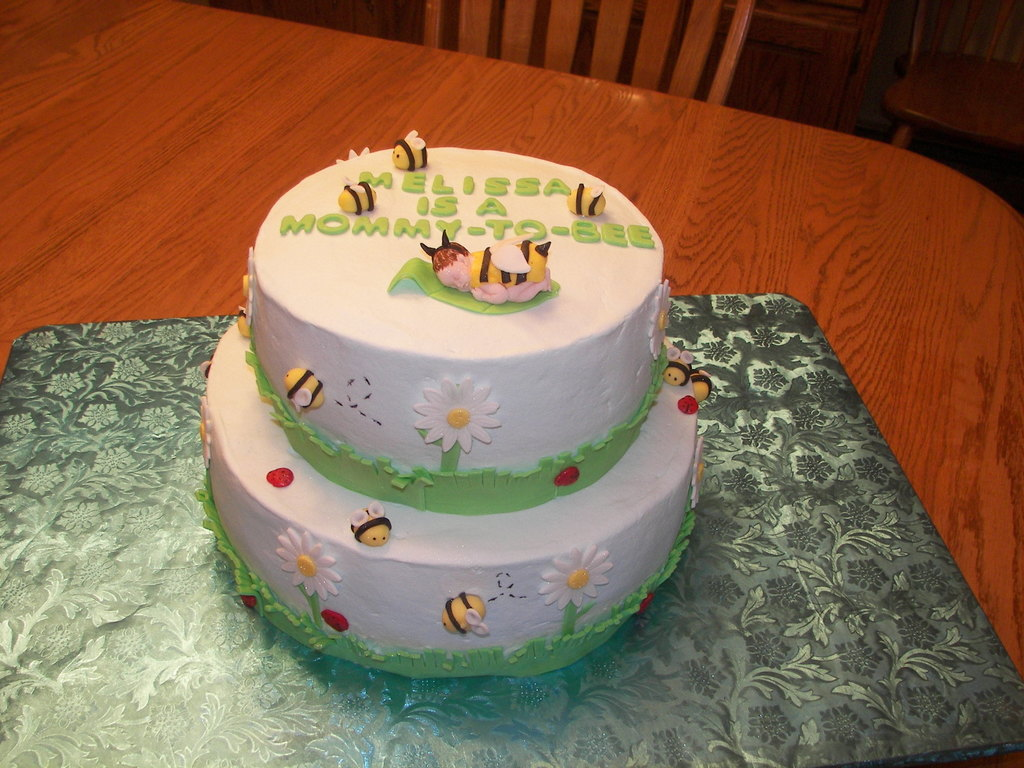 Bumble Bee Themed Baby Shower Cake Cakecentral Ptc Cofo Images