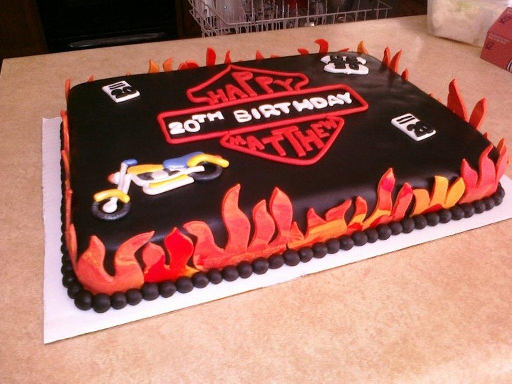 Motorcycle Themed Birthday Cake CakeCentralcom