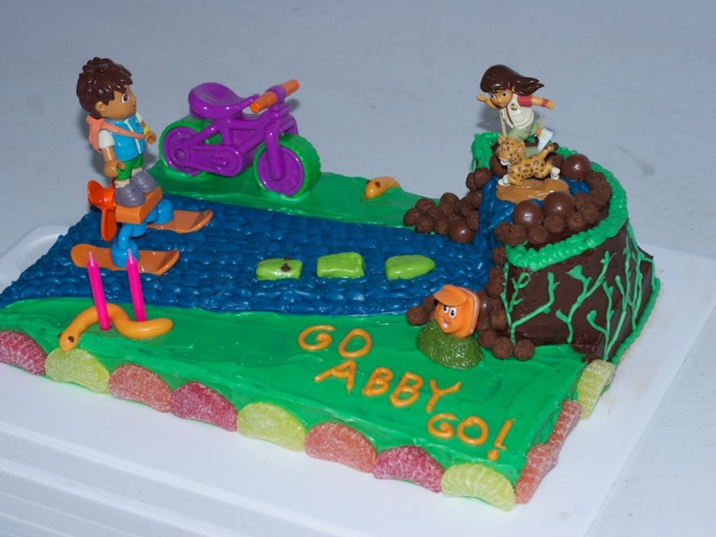 Go Diego Go Cake Diego And Alicia Rescue Baby Jaguar - Go diego go birthday cake