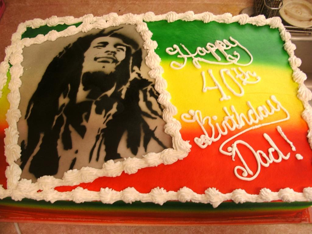 Peachy Bob Marley Cake Cakecentral Com Funny Birthday Cards Online Elaedamsfinfo