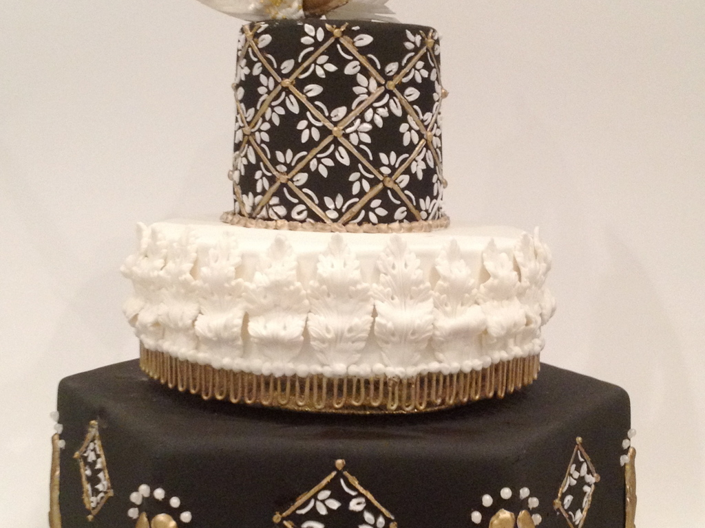 Black And Gold Masquerade Birthday Cake - CakeCentral.com