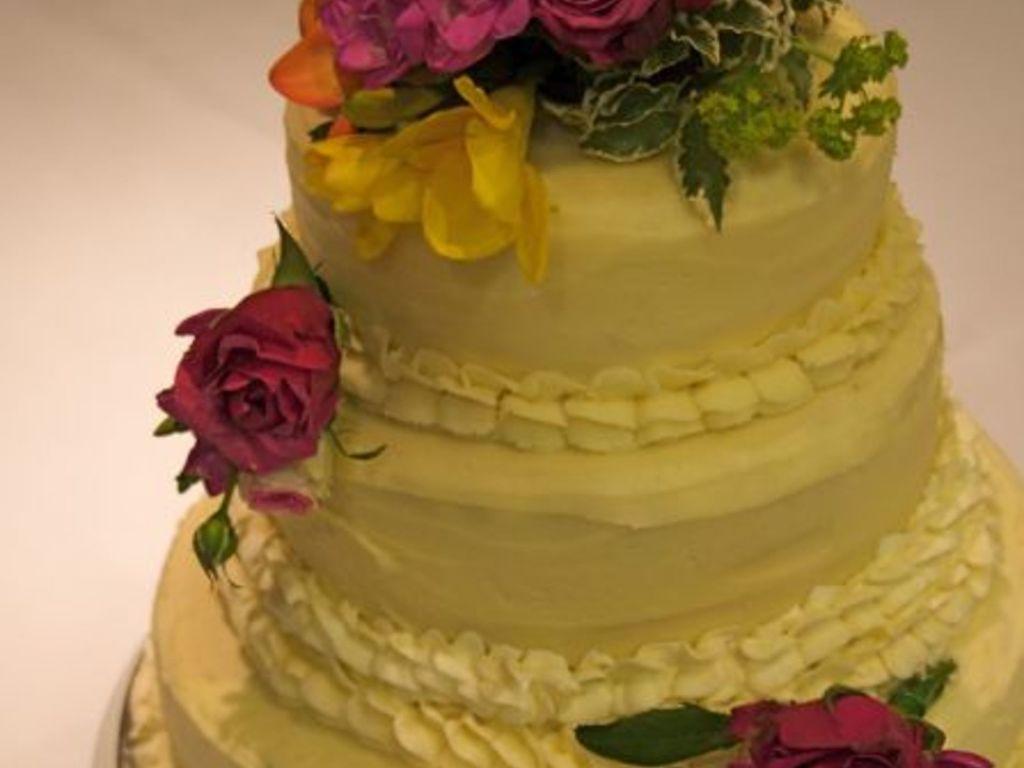 Buttercream Vintage Style Wedding Cake - CakeCentral.com