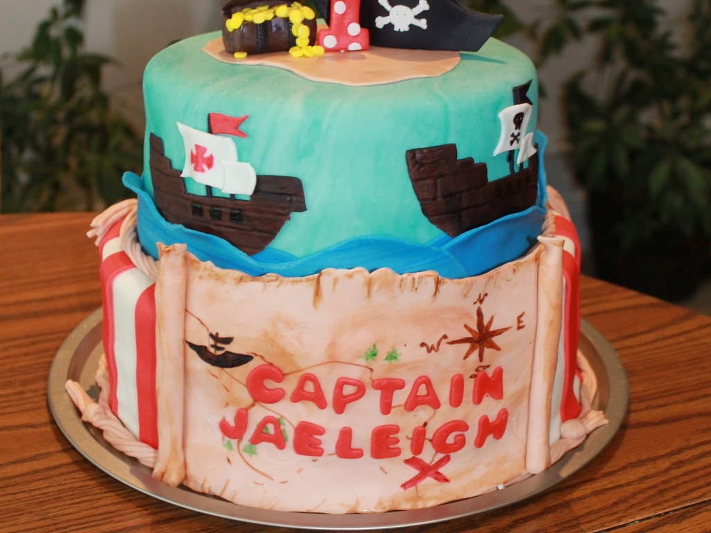 Pirate Cake For A 1 Year Old Cakecentral