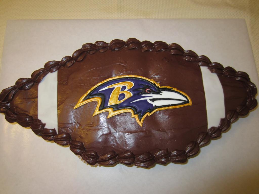 3fb07787 Baltimore Ravens Cupcake Cake - CakeCentral.com