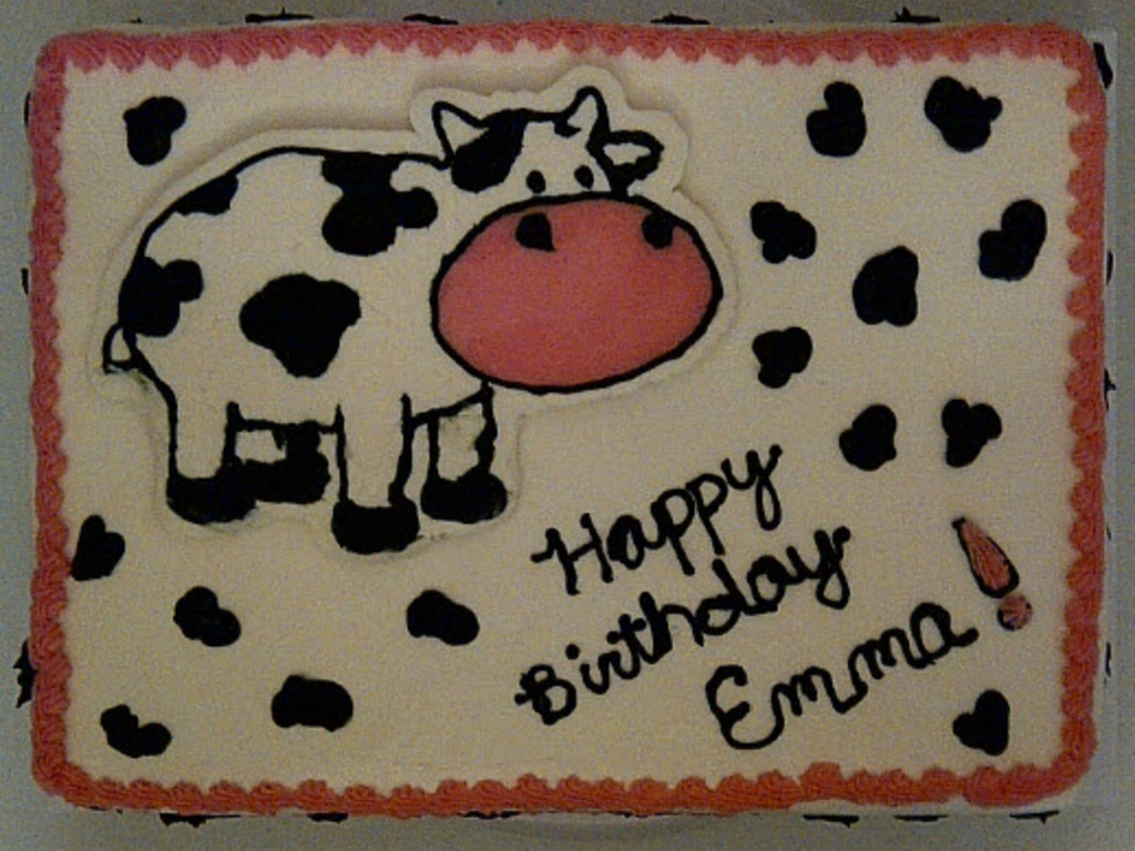 Cow Birthday Cake Cakecentral