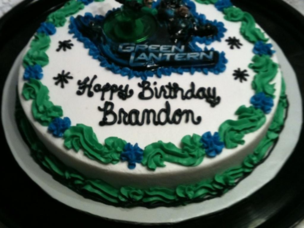 Green Lantern Birthday Cake Cakecentral Com