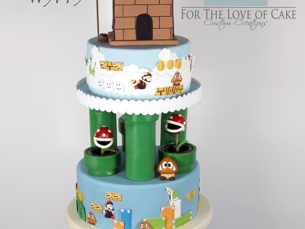Super Mario Wedding Cake - CakeCentral.com