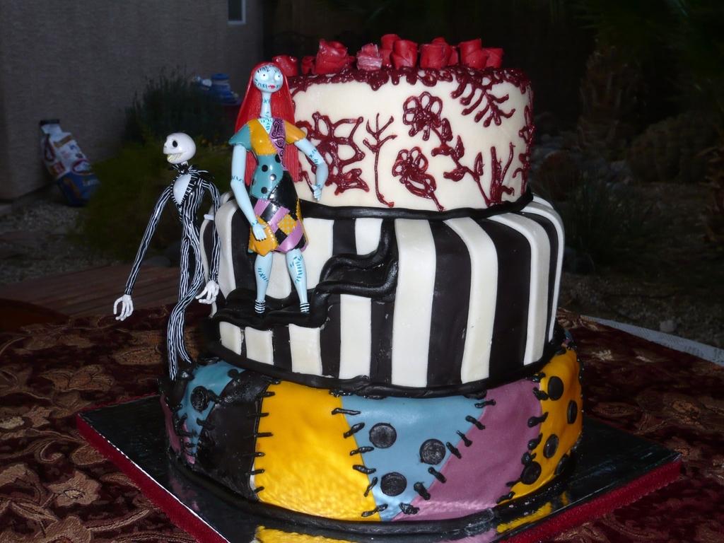 Nightmare Before Christmas Wedding Cake - CakeCentral.com