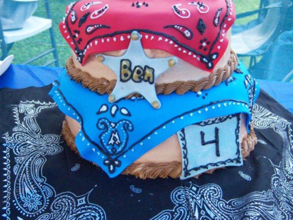 Cowboy Bandana Cake CakeCentralcom