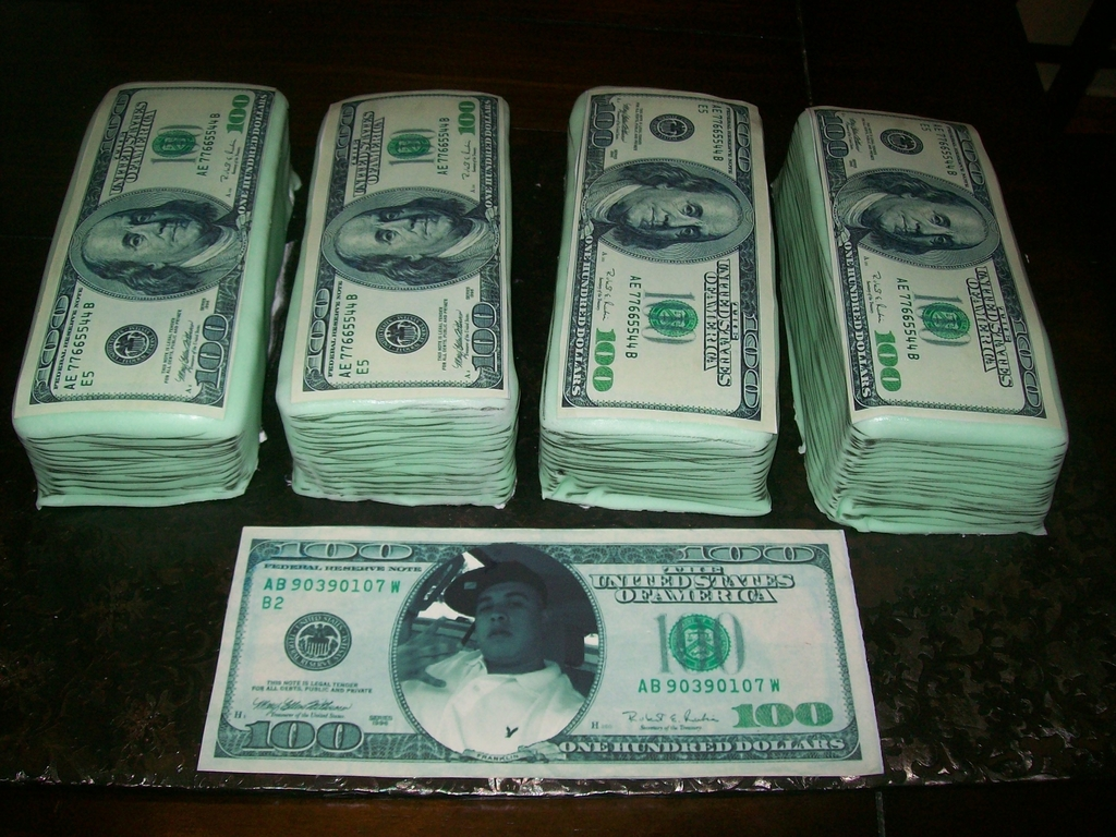 Money Stack Cake CakeCentralcom