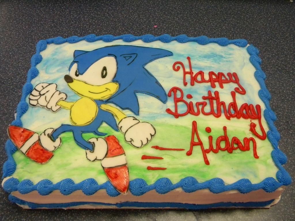 Sonic The Hedgehog Cake Cakecentral Com