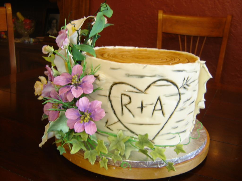 Birch Tree Wedding Cake - CakeCentral.com